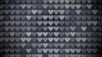 Black and White Hearts Pattern