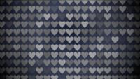 Schwarzweiss-Herz-Muster
