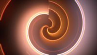 Vertige cercles orange