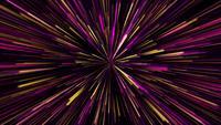 Warp-Geschwindigkeitslicht der gelben, rosa und violetten Neongalaxie