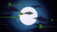 Les balais de sorcières et la lune