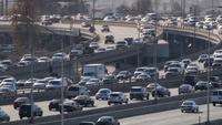 Zusammenführung des Straßenverkehrs