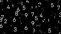 Una pantalla de números parpadeantes