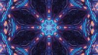 Interstellares Cyberportal mit strahlendem Licht