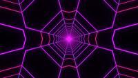 Túnel de movimiento brillante web 3d