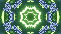 Lazo VJ de estrella de neón verde de renderizado 3D
