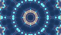 Lazo de VJ en movimiento amarillo azul de representación 3D