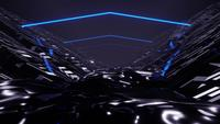 3D-Rendering Night Terrain Ride VJ-Schleife