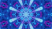3D Rendering Blue Star Vj Loop