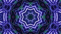 3D Rendering Green Purple Stars in Motion VJ Loop