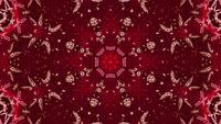 3D Rendering Red Rising Kaleidoscope Star Vj Loop