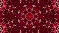 3D Rendering Red Rising Kaleidoscope Star Vj Loop