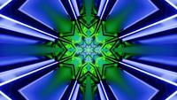 3D-Rendering Neon Star Portal-Schleife
