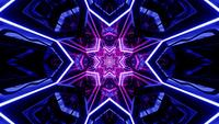 3D-rendering Neon Purple och Blue Star Warp Loop