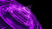 Abstract purple violet science technology HUD looping background