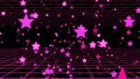 Lila Sterne im schwarzen Hintergrund