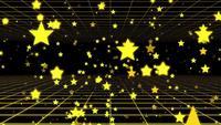 Fliegen durch eine Wand aus gelben Sternen