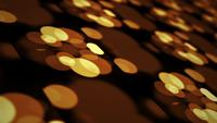 Golden bokeh 3D mosaic grid background looping animation