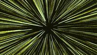 Schleife grün gelbe Geschwindigkeitslinien, die sich auf Schwarz bewegen