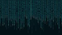 Matrix of Japanese Alphabet Digital Background