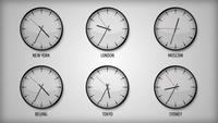 Design Clock With Different Time Zones