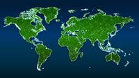 World Map Global Technology Hi-Tech Background