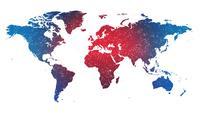 Fond de technologie mondiale carte du monde plat