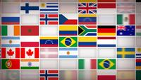 World Countries Flag Icons Background Loop