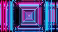 Abstrakter digitaler bunter Neonquadrathintergrund