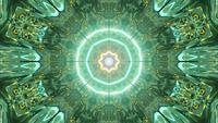 Felgekleurde ingang naar een andere dimensie