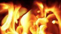 Fond de flamme abstraite