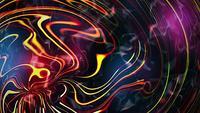 Fluxo de energia suave ondulado de cor de arco-íris de animação abstrata
