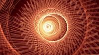 Bucle giratorio hélice espiral luz de neón nido túnel
