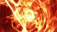 Spiraling flame light streaks and energy waves loop