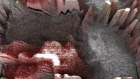 Futuristische 3D Pixel-extrusie