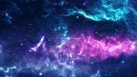 Galaxie cosmique avec nébuleuse