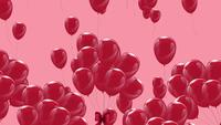 Pink Balloons Floating Slowly on A Pink Background