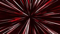 Explosión de luz roja geométrica circular