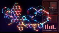 Futuristische digitale nanotechnologie-analysegrafiek