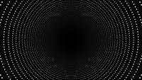 Boucle de fond de tunnel abstrait cercles concentriques