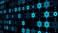 Fond de traitement de données numériques futuriste 4K