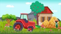 Casa familiar en el campo
