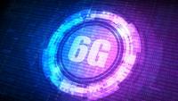 Digitaler Hintergrund der HUD 6G-Technologie