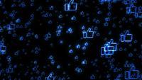 Internet-achtige pictogrammen Explosie Vuurwerk Intro