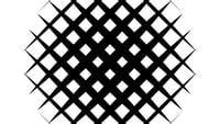 Intro de masque de carreaux noir et blanc abstrait révèle un clip de fond