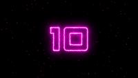 Countdown-Timer 10 Sekunden mit Feuereffekt