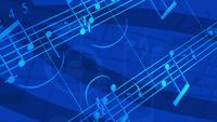 Abstract music flowing background