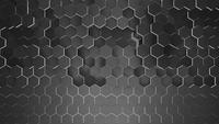 Fond de grille hexagonale noire