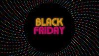 Schwarzer Freitagstext auf dunklem Hintergrund