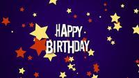 Primer texto de feliz cumpleaños y estrellas